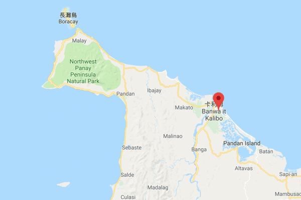 長灘島小地圖
