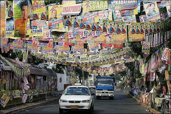 菲律賓街頭競選海報