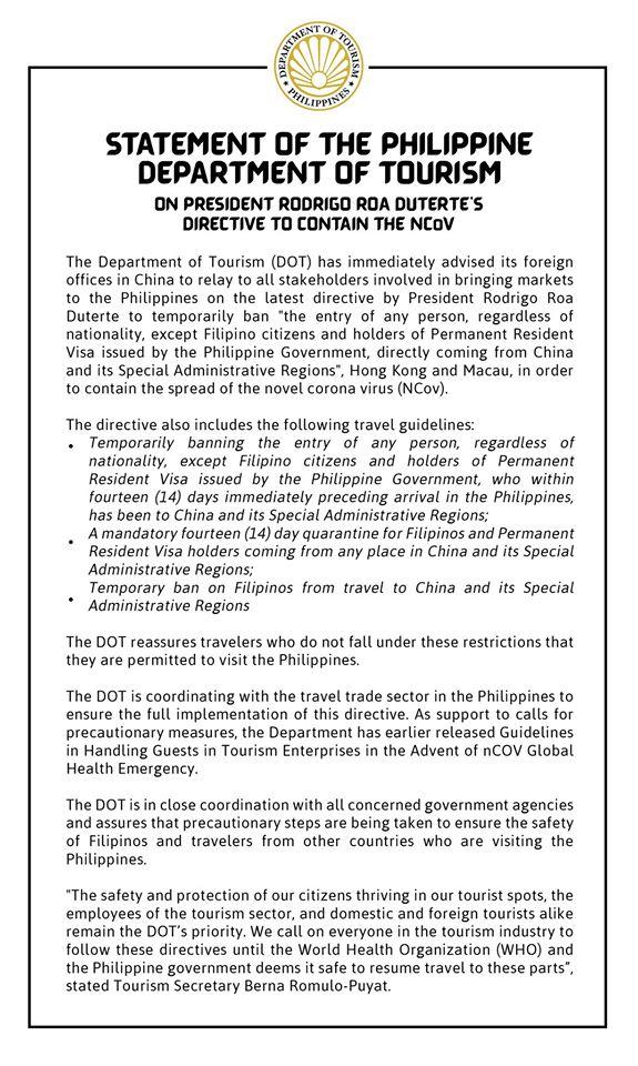菲律賓禁中港澳入境-不含台灣